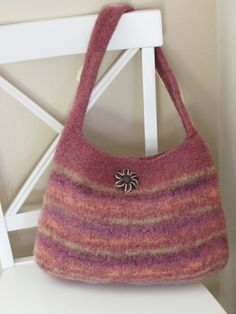 Beautiful, easy to #knit purse pattern. This #bag has lovely style and shape. ♥ This listing is for a KNITTING PATTERN, not the physical purse. ♥ Pattern name: Autumn Eve... #crochet #crochet #yarn #crafts