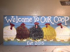 32x16 Chicken Coop Sign Large Rustic wood Hand Painted Country Sign ,Hens,Roosters,Farm Sign,Chicken Coop Sign,