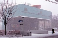 Peckham, Library in the snow Photo: Jake Tilson, 2008