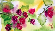 check out a board crafts-Lindsay, the frugal crafter for all of her tutorials!!  (she is so good she has her own board, lol)                                 How To Paint Raspberries in Watercolor
