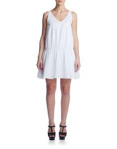 Susana Monaco Cotton Dropped-Waist Dress Women's Sugar 6