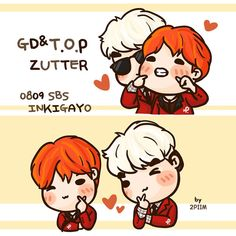 GD and TOP #Fanart #BigBang #Zutter at SBS Inkigayo