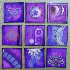 Rainbow Inchies! (pic heavy ~ tute P3) - PAPER CRAFTS, SCRAPBOOKING & ATCs (ARTIST TRADING CARDS)