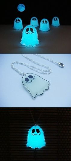 Hey, I found this really awesome Etsy listing at https://www.etsy.com/listing/248358251/ghosts-are-coming-necklace-glowing-ghost