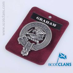 Pewter Cap Badge with Graham Clan Crest from ScotClans