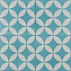 Matilda Rose Interiors: New trend in tiles. Aqua Bathroom, Beach House Bathroom, Bathroom Ideas, Small Bathroom, Bathrooms, Encaustic Tile, Circular Pattern, Tiles Texture, Wall And Floor Tiles