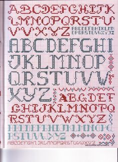 folk art cross stitch: alphabet cross stitch kits | make handmade, crochet, craft