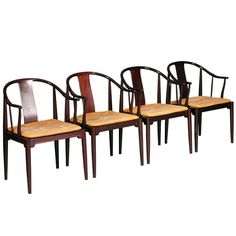 Set of 4 China chairs by Hans J. Wegner. | From a unique collection of antique and modern dining room chairs at http://www.1stdibs.com/furniture/seating/dining-room-chairs/