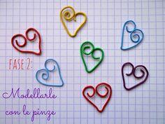 Linfa Creativa: Tutorial di San Valentino: cuoricini fatti con le graffette. St. Valentine's tutorial: little hearts made with staples