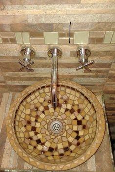 Diseños unicos! Bacha de Mosaico veneciano. Atenea Mosaico.