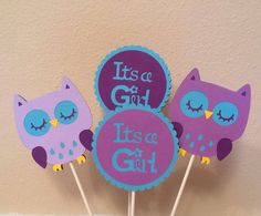 Purple and Teal Owl Themed Baby Shower by MyBabyShowerBoutique, $32.00