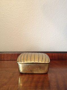 ben seibel mid century  brass box by chaptersvintage on Etsy, $125.00