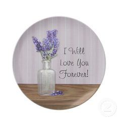 Lavender Mother's Day Plate by Mousefxart.com (Mouse Country) #MothersDay #Mom #gifts