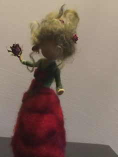 Needle felted Fairy Waldorf inspired Magic Flower Fairy