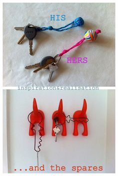 inspiration and realisation: DIY fashion blog: DIY three keychains (his, hers and the spares)