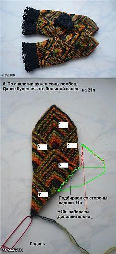 Варежки спицами в технике пэчворк с МК Crochet Mittens, Mittens Pattern, Knit Crochet, Knitting Projects, Knitting Patterns, Mitered Square, Fingerless Gloves Knitted, Mitten Gloves, Arm Warmers