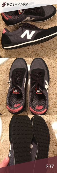 Women's 410 New Balance Brand new women's charcoal grey/black/pink new balance / Never been worn! Received for Christmas New Balance Shoes Athletic Shoes
