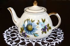 Gibson's Teapot Staffordshire England by SucresDaintyDish on Etsy, $26.00