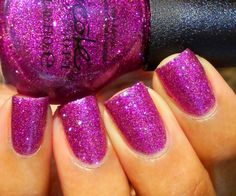 My Sleigh's in the Shop - Pretty and sparkly magenta glitter