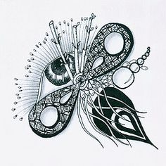 Weekly challenge #36 (louvebleue) Tags: blackandwhite pen ink drawing doodle draw doodling encre doodleart zentangle zendoodle