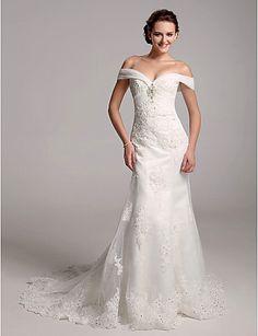 CHANTAL - Kleid für die Braut aus Organza und Satin - EUR € 245.02