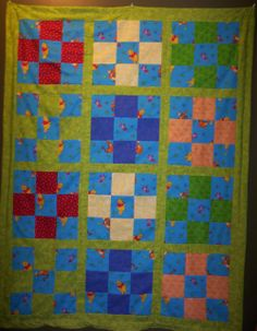 Theodore's baby quilt - winnie the pooh fabric