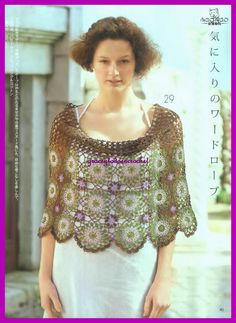 Grace y todo en Crochet: Beautiful cape...Bella capita!