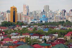 Homes near an urban area in Kazakhstan    A view of homes outside of an urban area. Kazakhstan