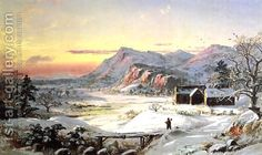 Winter Scene, North Conway, New Hampshire by Jasper Francis Cropsey