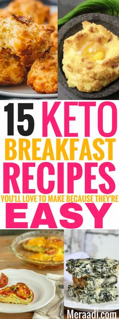 These amazing ketogenic breakfast recipes are THE BEST! I'm so glad I found these AWESOME keto breakfast recipes that are so easy to make and can help me lose weight! Definitely saving this for later! #keto #ketorecipes #ketogenic #ketogenicdiet #lchf #breakfast ##breakfastrecipes