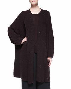 Long Jacket Coat Cardigan, Port by eskandar at Bergdorf Goodman.