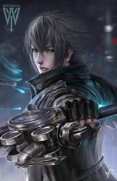 Final Fantasy XV/Noctis by wizyakuza on DeviantArt Final Fantasy Xv, Final Fantasy Artwork, Fantasy Series, Fantasy World, Video Game Characters, Female Characters, Big Heroes, Noctis Lucis Caelum, Fanart