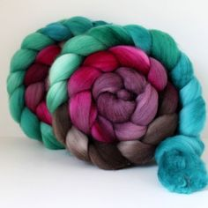 Handpainted Polwarth Wool Top Wool Roving by SpunRightRound