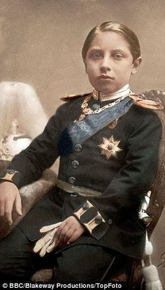Wilhelm as a young boy