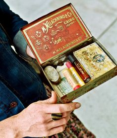 cigar box of goods