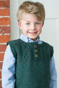 e884af24e Knitting Pattern  Cable Vest SKILL LEVEL  Easy SIZE  6 months (1 ...