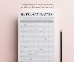 Hey, I found this really awesome Etsy listing at https://www.etsy.com/uk/listing/280767806/priority-planner-printable-productivity