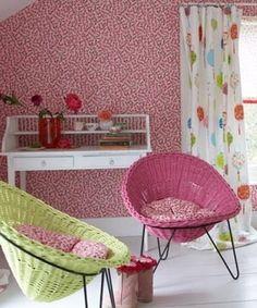 Söt tapet Primrose Hill och övrig miljö från www.designersguild.com.