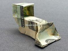 $20 bill Bulldozer - Money Origami - Dollar Bill Art