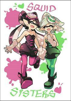 callie and marie Splatoon Comics, Splatoon 2 Game, Splatoon Squid Sisters, Callie And Marie, Sea Siren, Pokemon, Fanart, Cute Characters, Game Art