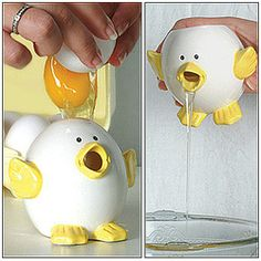 Tumblr: ysksmz:  eBay セカイモン- その他 > NEW Chick Egg Separator: Yolk and White Dividing Kitchen Cooking Device 海外オークション