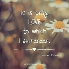 It is only LOVE to which I surrender.