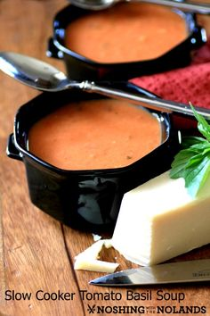 Slow Cooker Tomato Basil Soup by Noshing With The Nolands