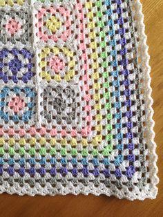 Granny square pastel baby blanket
