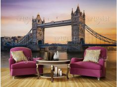 Fotomurale Alba sopra la Tower Bridge #fotomurali #fotomurale #design #decorazione #d'interni #carta #da #parati