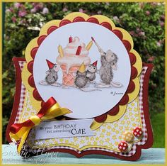 House Mouse by Craftin' Suzie- Love the shape of the card