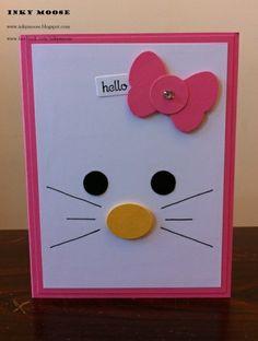 Ideas Birthday Card Ideas For Girls For Kids Punch Art Cool Birthday Cards, Handmade Birthday Cards, Art Birthday, Children Birthday Cards, Cat Cards, Kids Cards, Kids Punch, Tarjetas Diy, Punch Art Cards