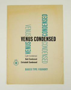 Venus Type Specimen booklet by Herb Lubalin Study Center, via Flickr