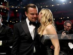 Actor Leonardo DiCaprio (L) and Kate Winslet attend the 88th Annual Academy Awards at Dolby Theatre on February 28, 2016 in Hollywood, California.