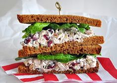Cranberry, pecan and rosemary chicken salad.